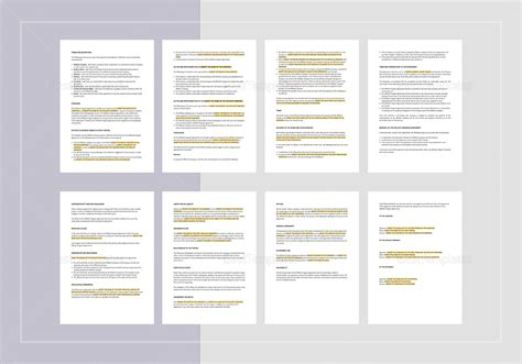 Affiliate Program Agreement Template In Word Apple Pages Affiliate Program Template