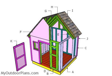 simple playhouse plans myoutdoorplans