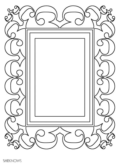 picture frame templates craft templates for picture frame 6