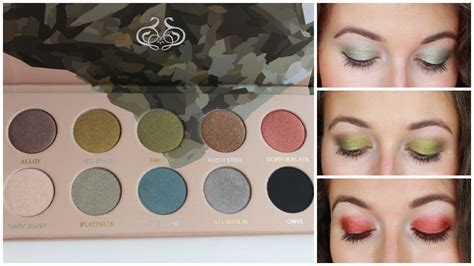 mixed metals zoeva mixed metals palette review swatches youtube