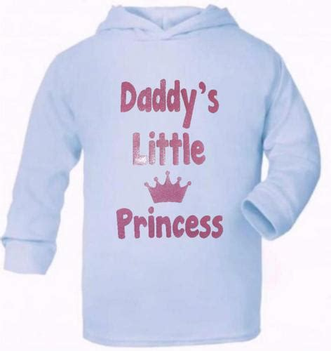 Jumper Motif Bunga Daddys Princes s princess present baby new born gift supersoft baby hoodie ebay