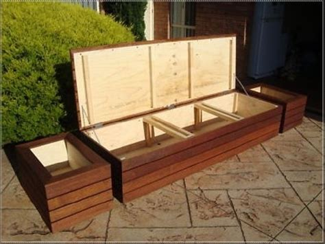 outdoor bench seat with storage 25 best ideas about deck storage bench on pinterest