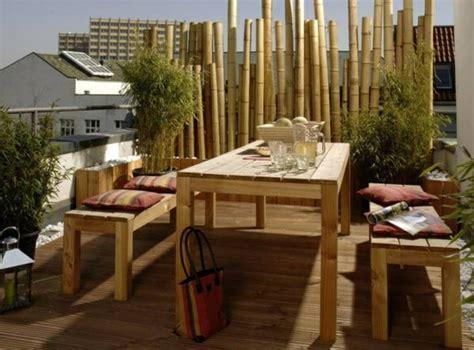balkon gestalten ideen bambus balkon sichtschutz gestaltung ideen im feng shui stil