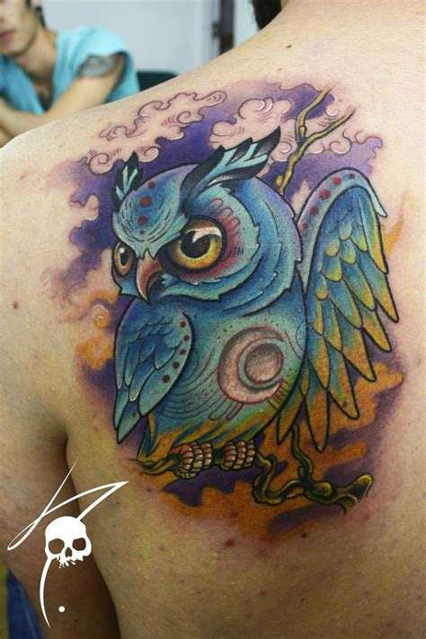 colorful owl tattoo designs 1000 images about owl background ideas on