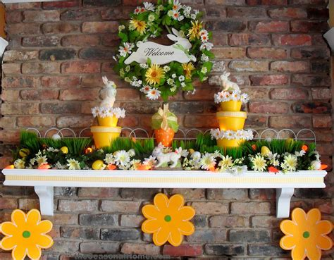 Easter Fireplace Decorations yellow at easter it s not just for anymore 171 the seasonal home