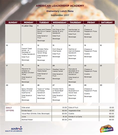 American Leadership Academy Calendar Lunch Menu American Leadership Academy Schools