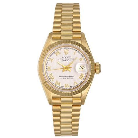 rolex womens president 18k gold 69178