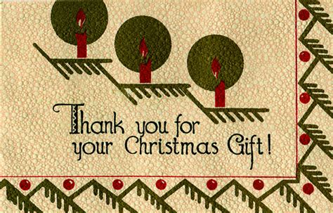 thank you for your christmas gift inside reads quot happ
