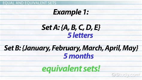 a setter definition equivalent sets definition exle video lesson