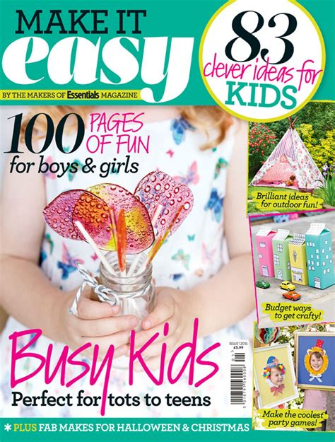 craft magazine for new make it easy magazine packed with 83 clever food