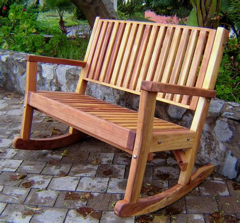 outdoor rocking bench massive wooden rocking bench outdoor wood rocking bench
