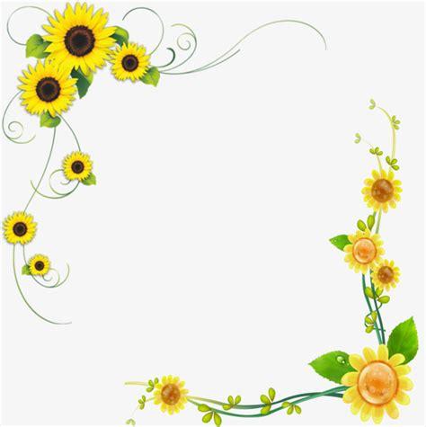 Morning Sun Mini Brush Motif sunflower clipart banner 468905 free sunflower clipart