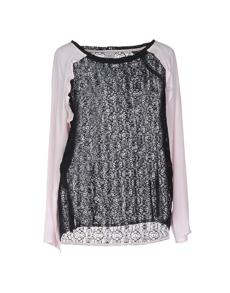 Dominic Black Blouse lyst pinko blouse in black