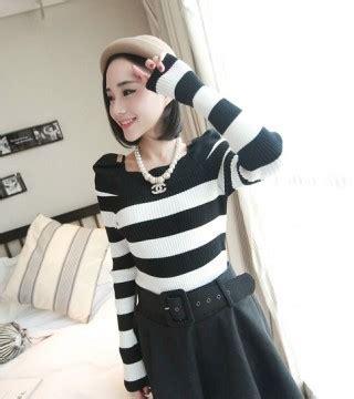 Jaket Rnd Belang Hitam Putih Edition Korean Style Kece Keren Bergaya blouse wanita korea hitam putih simple model terbaru