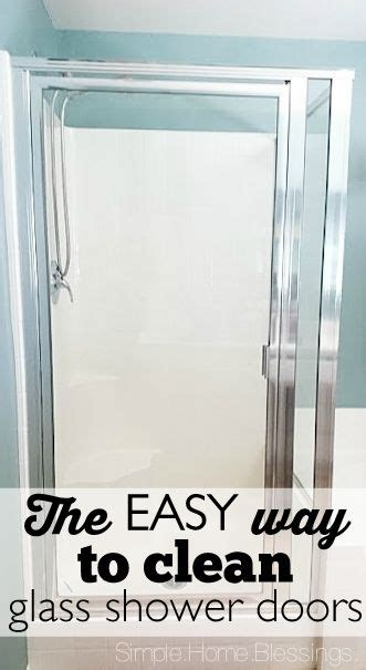how to clean glass shower doors best 25 cleaning glass shower doors ideas on