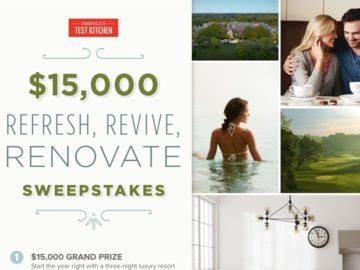 Kitchen Renovation Sweepstakes - the america s test kitchen 15 000 refresh revive renovate sweepstakes