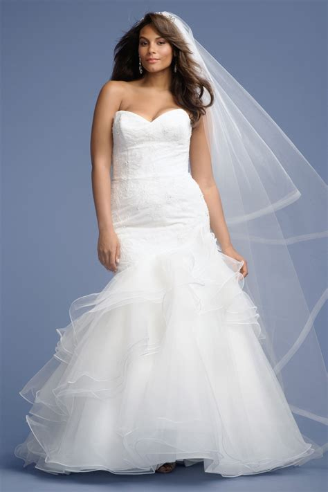 Modern Plus Size Bridal Gowns Sweetheart Lace Top Mermaid