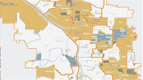 map of oregon high schools pps releases new proposed level boundary maps for