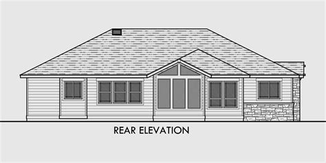 One Story House Plans Ranch House Plans 3 Bedroom House Ranch House Plans With Screened Porch