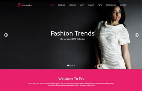 Fab Site Changingthepresentcom by Fashion Responsive Html5 Web Template Free