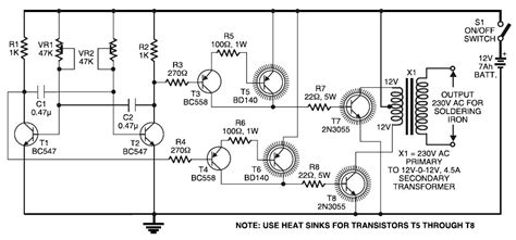 2000w 12v simple inverter circuit diagram circuit