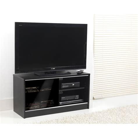 Black Tv Cabinets With Doors 0581 Black Single Sliding Door Tv Cabinet 90cm