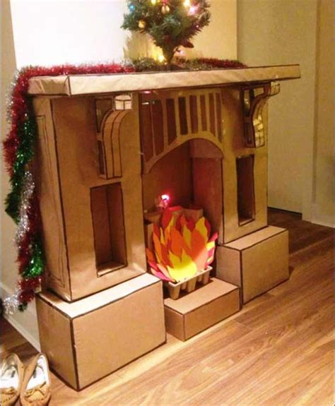 Diy Cardboard Faux Logs To Diy Cardboard Fireplace Home Fireplaces Firepits