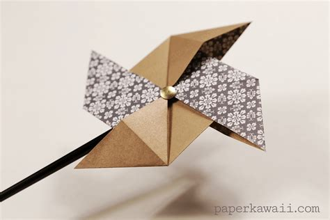 How To Make Origami Pinwheel - traditional origami pinwheel tutorial paper kawaii