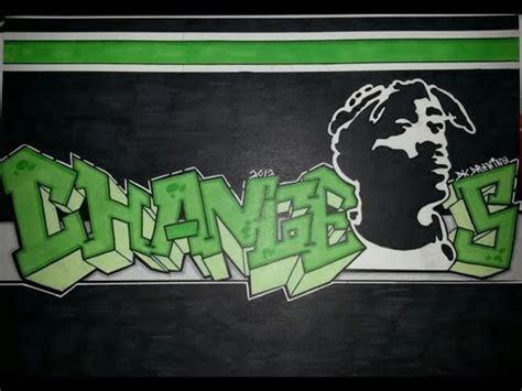 tupac graffiti letters stencil drawing  youtube