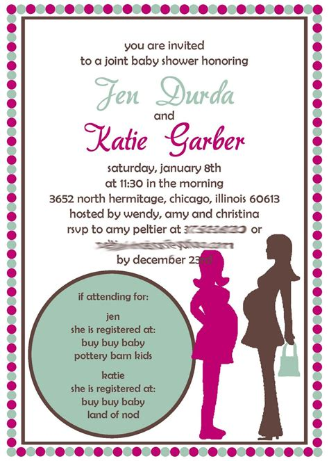 Joint Baby Shower Invitation Wording by Joint Baby Shower Invitation Image Result For Http