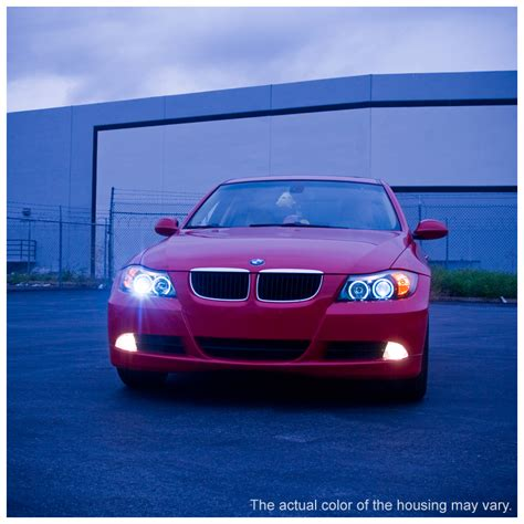 bmw headlights 3 series 06 08 bmw 3 series e90 4dr angel eye halo led projector