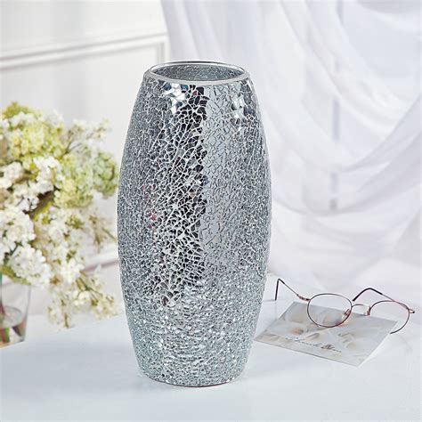 Mirror Mosaic Vase by Mirrored Mosaic Vase Trading Discontinued