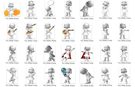 3d character template 3d characters