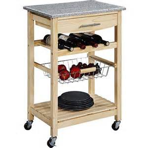 Kitchen Island Cart With Granite Top by Granite Top Kitchen Cart Natural Base Walmart Com