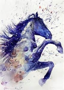 watercolor paint horse tattoo idea best tattoo designs