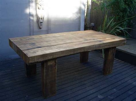 richard well s rustic chic table with railway sleepers