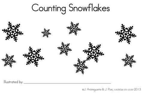 printable books about snowflakes counting snowflakes free printable book free printable