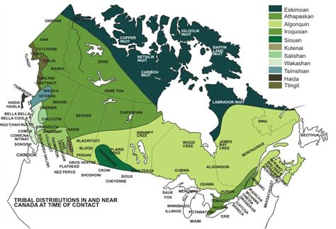canadian map of indian tribes united states american natives