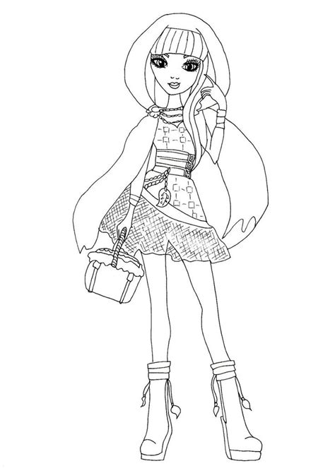 coloring page ever after high free printable ever after high coloring pages cerise hood