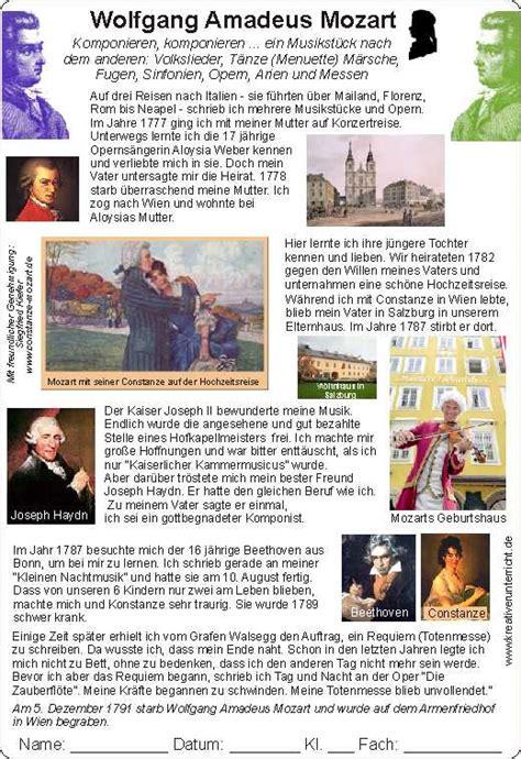 mozart biography in deutsch mozart for kids mozart f 252 r kinder biography lebenslauf