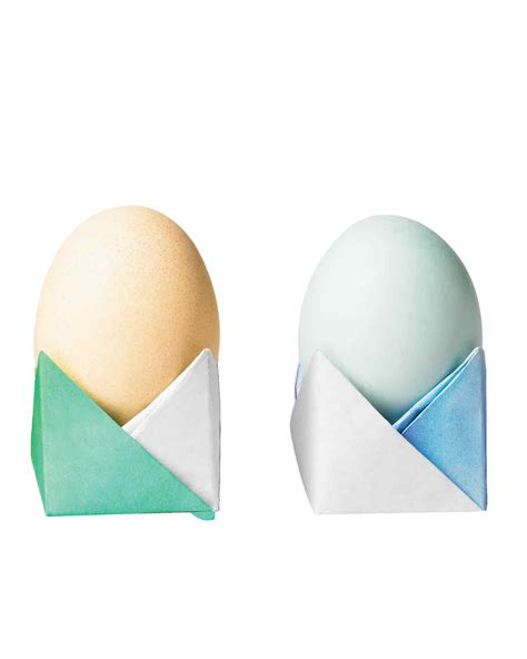 Origami Egg Holder - 12 easy easter crafts for anyone and everyone martha stewart