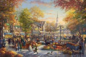 Cross Stitch Cottage by The Pumpkin Festival The Thomas Kinkade Company