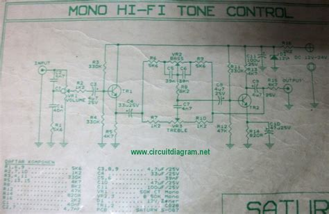 Kit Tone Stereo Well 007s pre tone with tda1524a schematic design