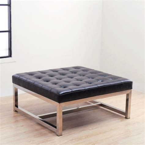 Table With Ottoman Unique And Creative Tufted Leather Ottoman Coffee Table Homesfeed