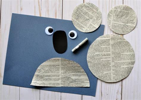 koala craft for newspaper koala craft i crafty things