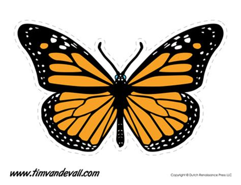 monarch butterfly template printable tim de vall comics printables for