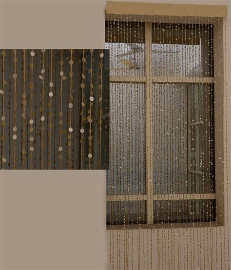 modern beaded curtains aadya home gold contemporary beaded string curtain buy
