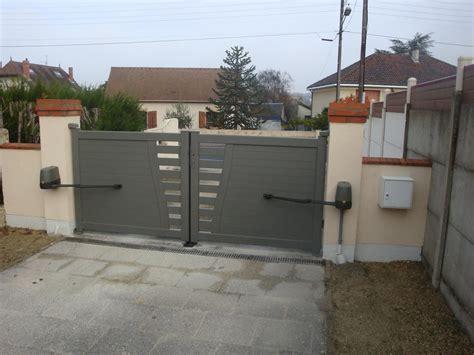 portail aluminium battant 4289 evreux portail battant alu de villa semi plein thermolaqu 233