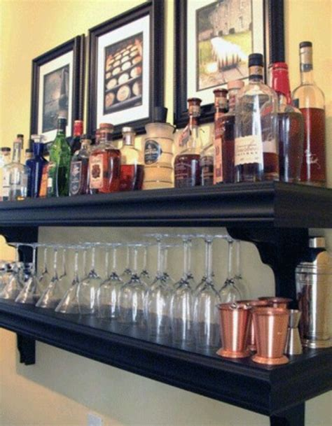 Mini Bar Shelf by Mini Bar From Shelves Home Bar Ideas Mini