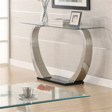 Mirrored Dining Room Tables by Modern Metal Sofa Table Console Sofa Tables